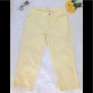 Coldwater Creek Yellow Capri Stretch Jeans